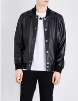 Givenchy Star-detailed leather bomber jacket