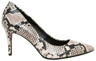 Calvin Klein Gayle Natural Snake Heeled Shoe