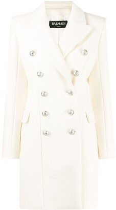 Balmain double-breasted mid-length coat
