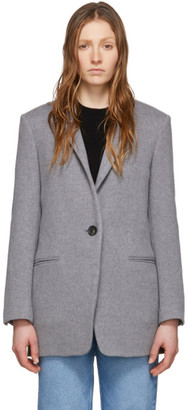 Isabel Marant Grey Wool Felicie Coat