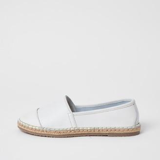 Ravel River Island Womens White leather espadrille sandals