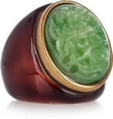 24-karat gold-plated cabochon ring