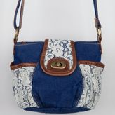 Crochet/Denim Crossbody Bag