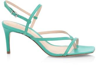 Schutz Aurora Slingback Leather Thong Sandals
