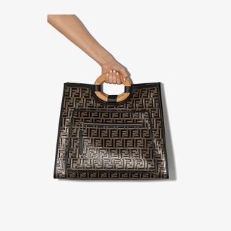 Fendi Black Runaway large tote bag