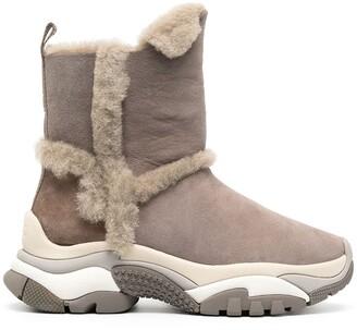 Ash Alpes suede snow boots