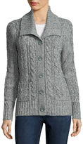 ST. JOHN'S BAY St. John's Bay Long-Sleeve Cable-Knit Cardigan