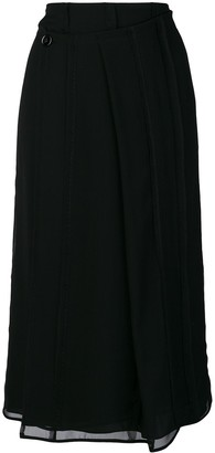 Carven pleated wrap skirt