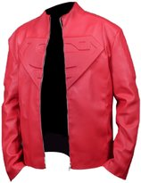Feather Skin Smallville Superman Faux Leather Jacket - in Colour -M
