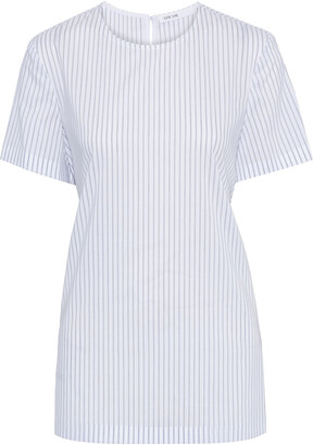 ADEAM Tie-back Layered Striped Poplin Top