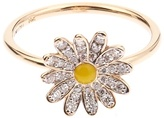 Alison Lou Diamond, enamel & yellow-gold Daisy ring