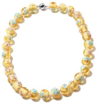 Shop Lc Champagne Color Murano Style Beads Glass Necklace Size 20 Inch - Size 20''