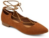 Women's Kady Pointed Toe Lace Up Ballet Flats - Mossimo Supply Co.