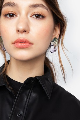 Topshop Ombre Textured Stud Earrings