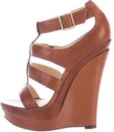 Rachel Zoe Caged Leather Wedges