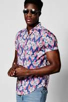 Boohoo Floral Print Short Sleeve Shirt