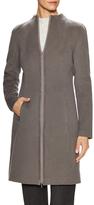 Lafayette 148 New York Brianne Wool Front Slant Pocket Coat