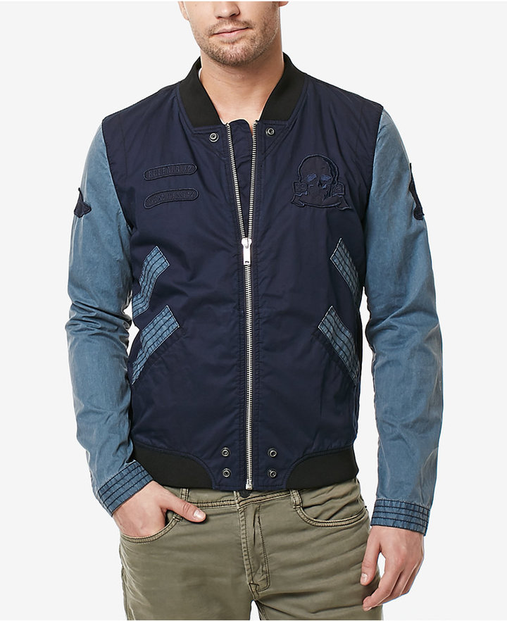Buffalo David Bitton Men's Jilem Colorblocked Bomber Jacket