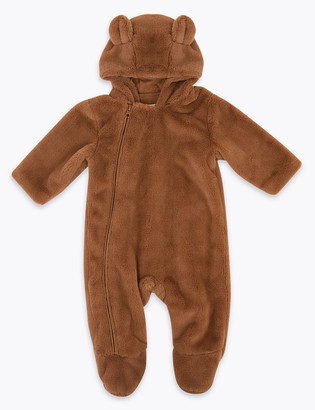 Marks and Spencer Faux Fur Bear Pramsuit (7lbs-12 Mths)