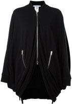 Givenchy draped zip jacket - women - Polyester/Viscose - 34
