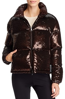 Moncler Rimac Sequin Down Coat