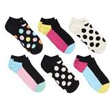 Happy Socks Womens 6 Pack Low Cuts Combed Cotton Seamless Toe (9-11, )