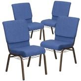 Church's MacArthur Contemporary Chair Ebern Designs Seat Finish: Blue