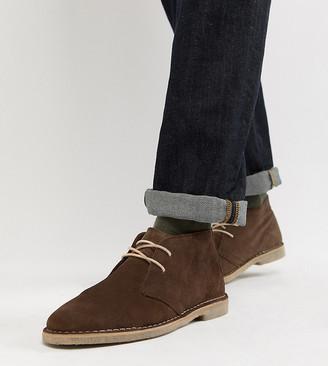 ASOS DESIGN Wide Fit desert chukka boots in brown suede
