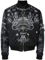 Givenchy tattoo print bomber jacket