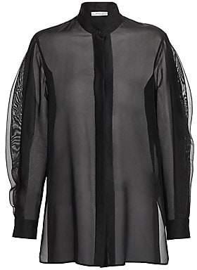 Akris Punto Women's Ruffled Wave Sheer Silk-Blend Tunic