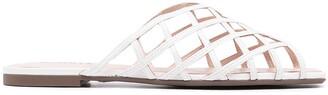 Schutz Woven Flat Sandals