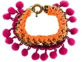 Matthew Williamson Pom-Pom Chain Bracelet