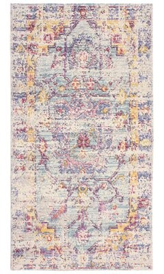 French Connection Zenaide Colorwashed Ivory Area Rug Rug Size: Rectangle 2' x 3'