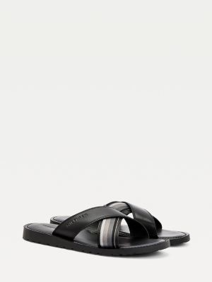 Tommy Hilfiger Criss Cross Leather Sandals
