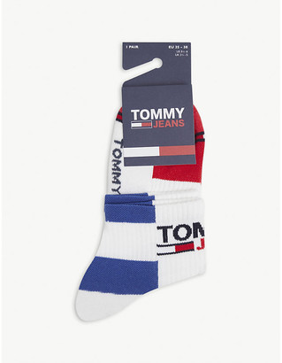 Tommy Hilfiger Check-woven cotton-blend socks