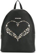 Love Moschino heart plaque backpack