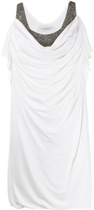 Philosophy di Lorenzo Serafini Embellished Draped-Front Dress