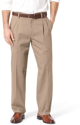 Dockers Men's Stretch Easy Khaki Relaxed-Fit Pleated Pants