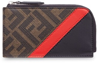 Fendi FF motif zip coin wallet