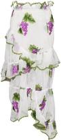 Thumbnail for your product : yuhan wang Grape Embroidered Skirt