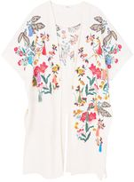 MANGO Floral embroidered kaftan