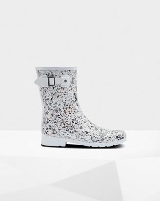 Hunter Women's Refined Particle Print Slim Fit Short Rain Boots