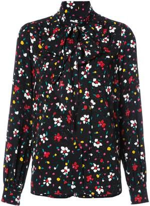 Marc Jacobs Floral Tie Neck Blouse
