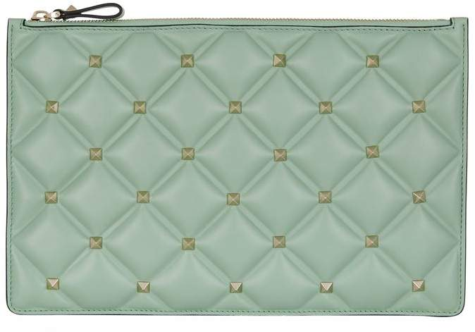 Valentino Leather Candystud Pouch