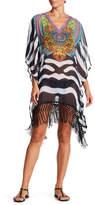 La Moda Fringe Hem Cover-Up Caftan