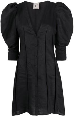 L'Autre Chose Puff Sleeve Mini Dress