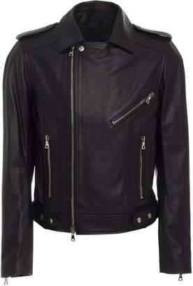 Balmain Zipped Leather Jacket