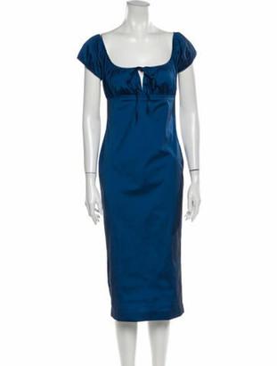 Opening Ceremony Square Neckline Midi Length Dress w/ Tags Blue