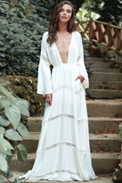 The Jetset Diaries Hammock Maxi Dress in Ivory