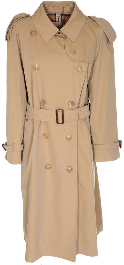 6c6f765810de7d Burberry Long Double Breasted Trench Coat - ShopStyle